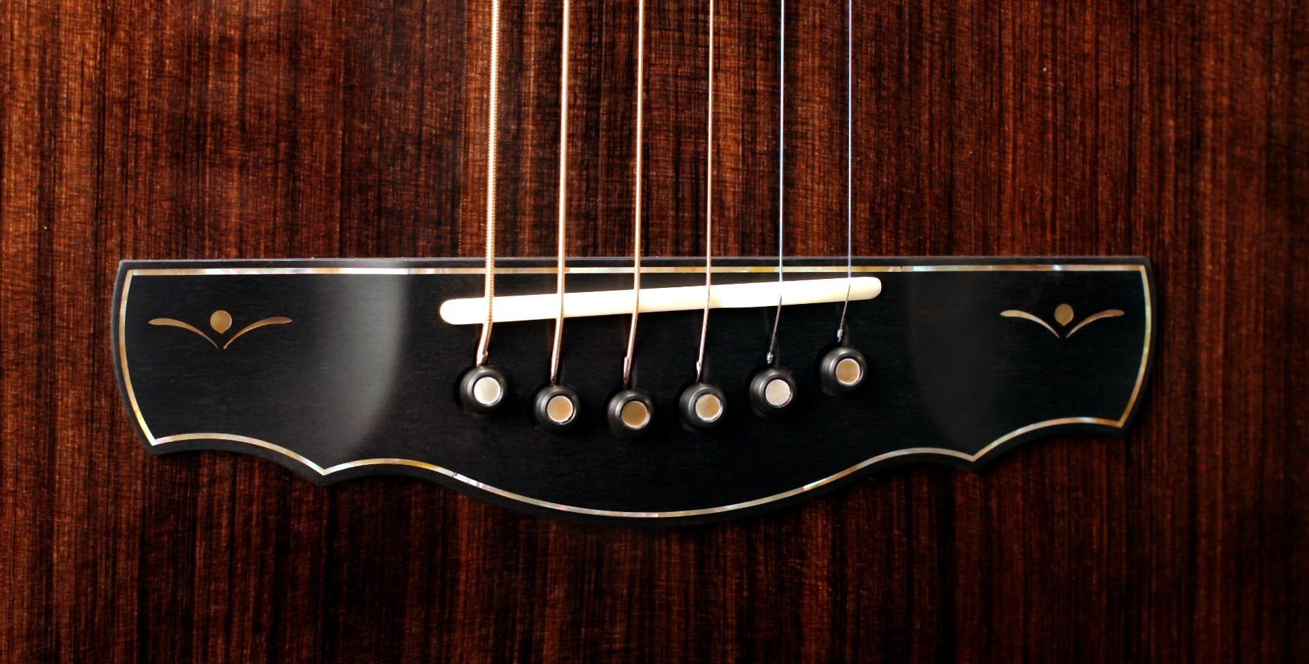 Bridge On A Kevin Ryan Acoustic Guitar Model Nightingale Guitar Custom Acoustic Guitars Beautiful Guitars