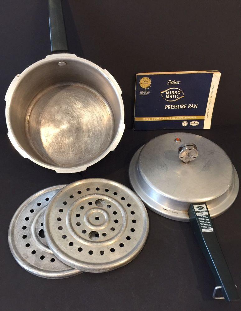 Vintage Mirro 4qt Pressure Cooker Aluminum Mirro Magic Deluxe Pressure Pan  | eBay