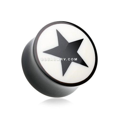 Nova Star Hollow Steel Single Flared Plugs Sold as Pairs