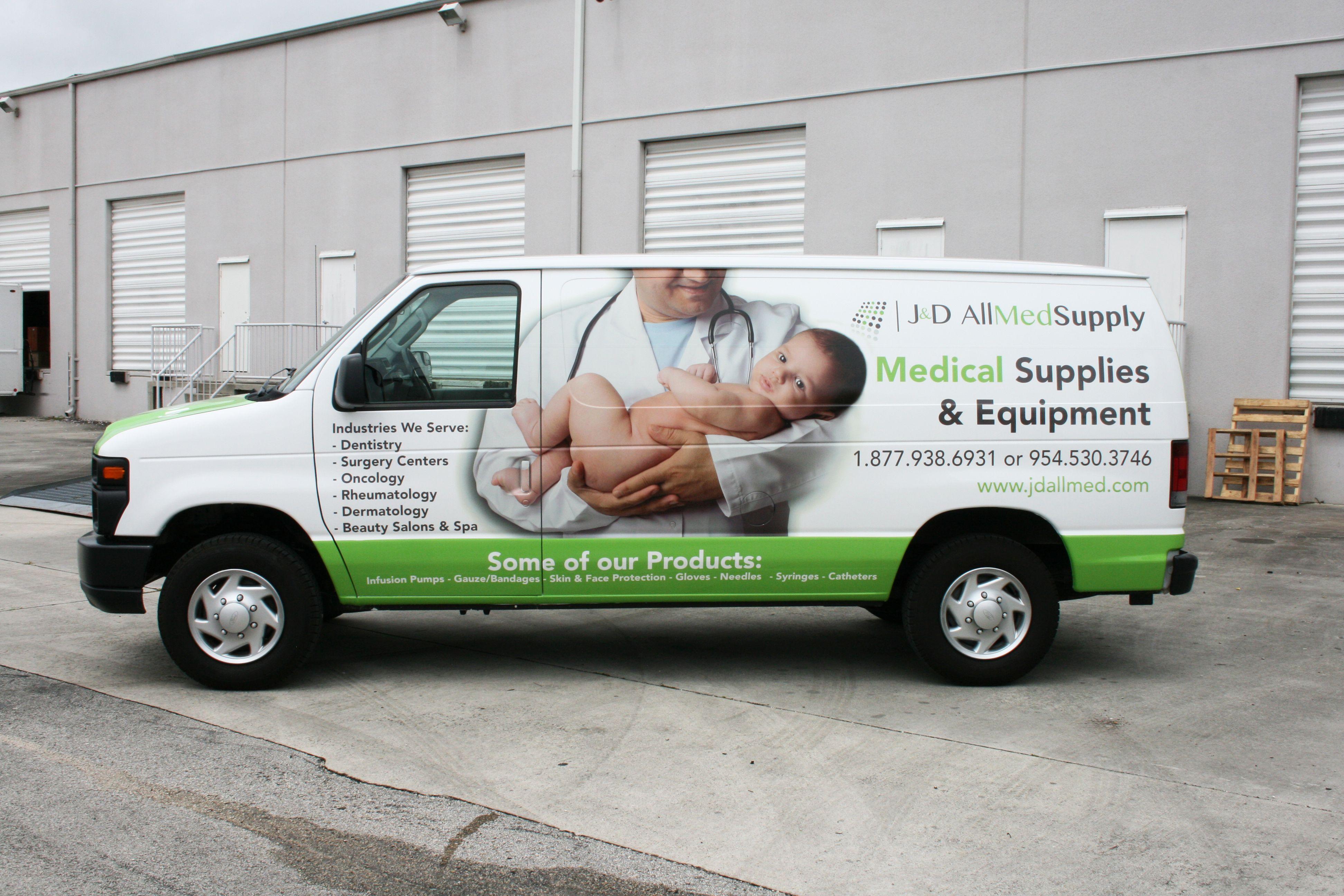 3m Vinyl Vehicle Wrap Sunrise Fort Lauderdale Florida For J D Allmed Supply Medical Supply Delivery Http Carwrapsolut Car Wrap Truck Lettering Boat Wraps
