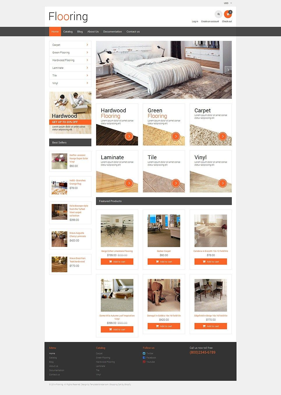 Delightful Awesome Home Decoration Plumbing Flooring And Lighting Store Shopify Themes    Flooring Store (ecommerce Website Theme) Item Picture