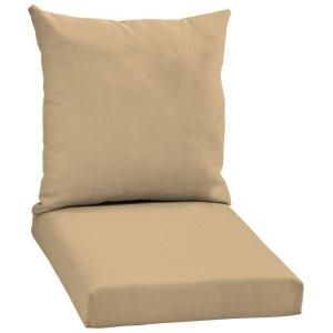 Arden Twilight Solid Khaki 2 Piece Patio Chair Cushion Fb09067b 9d1 At The Home Depot With Images Chair Cushions Chair Patio Chair Cushions