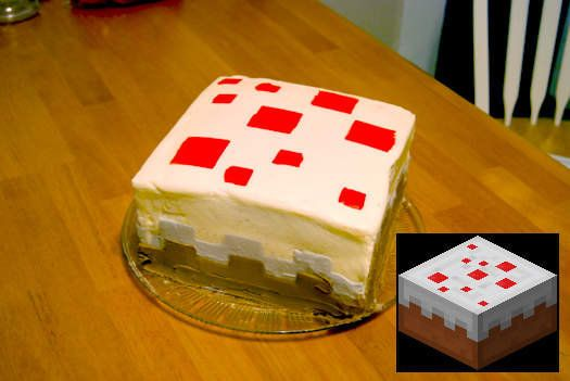Minecraft Cake Cake From The Game Minecraft Cake Cake Recipes