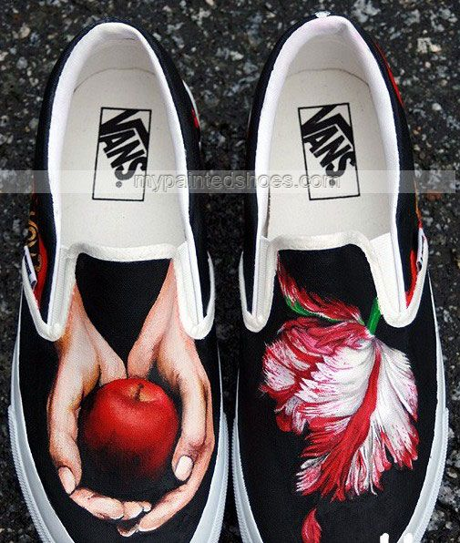 one piece painted shoes custom one piece painted shoes,Slip