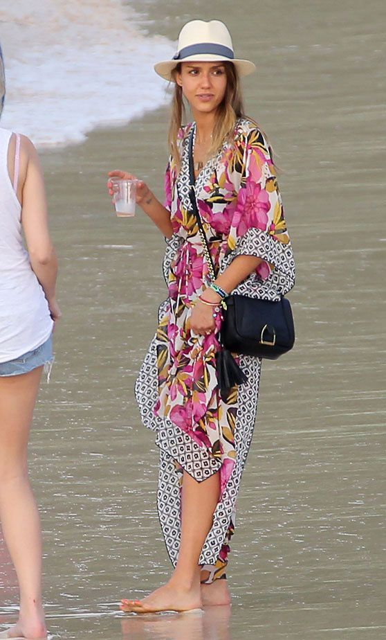 dcf6df6361 Celeb Beach Style Fashion Articles, Tory Burch, Style Guides, St Barts,  Jessica