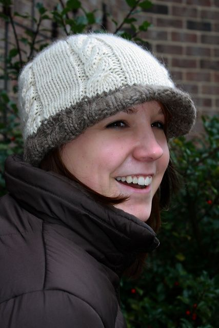 Cabled Hat With Brim Pattern By Melissa Schaschwary Knitting