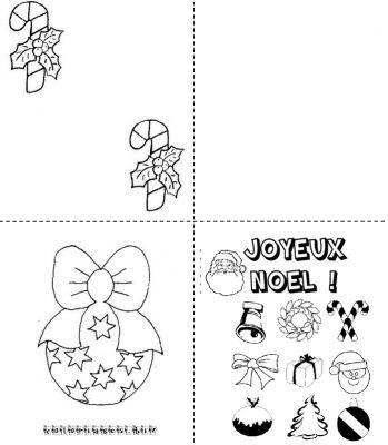 coloriage Cartes de noel à imprimer gratuit   Noel | Cartes de