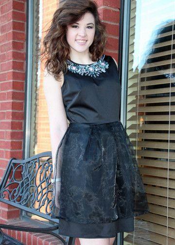 Jewel Detail Dress in Black