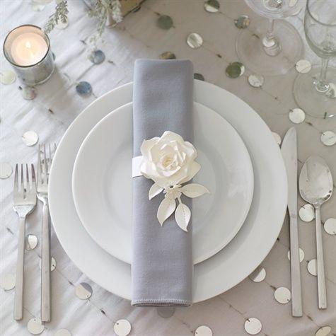 Modern Rose Napkin Ringa Paper Flower Napkin R Weddings