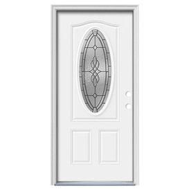 Jeld Wen Hampton 2 Panel Insulating Core Oval Lite Left Hand