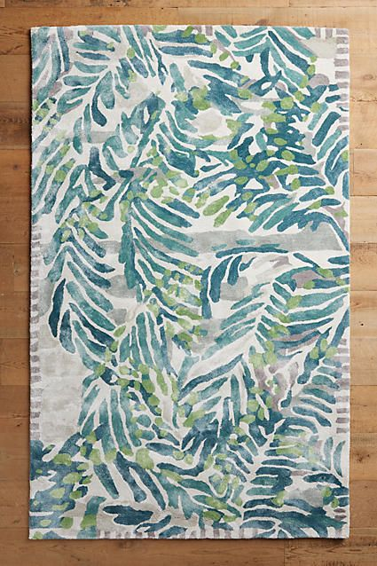 I Love The Botanical Look Of This Rug Wild Palm Tropical