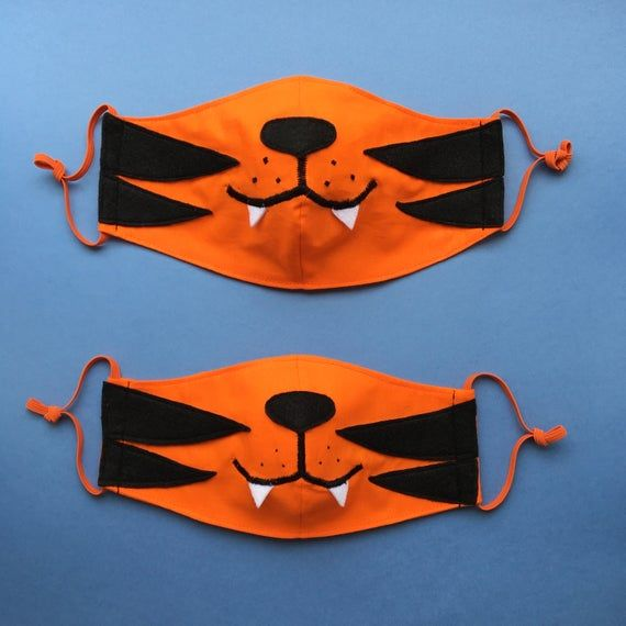 Photo of Couple of Tigers Face Masks with Filter Pockets – Set of 2