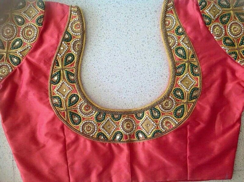Pin By Varna Ammi On Embroidery N Aari Work Simple Blouse Designs Blouse Hand Designs Cutwork Blouse Designs,Pretty French Toe Nail Designs