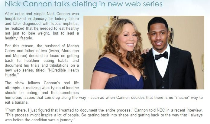 Nick Cannon talks dieting in his new web series