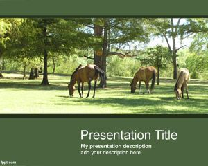 Horses Point Template Is A Nice Green With In The Master Slide Http