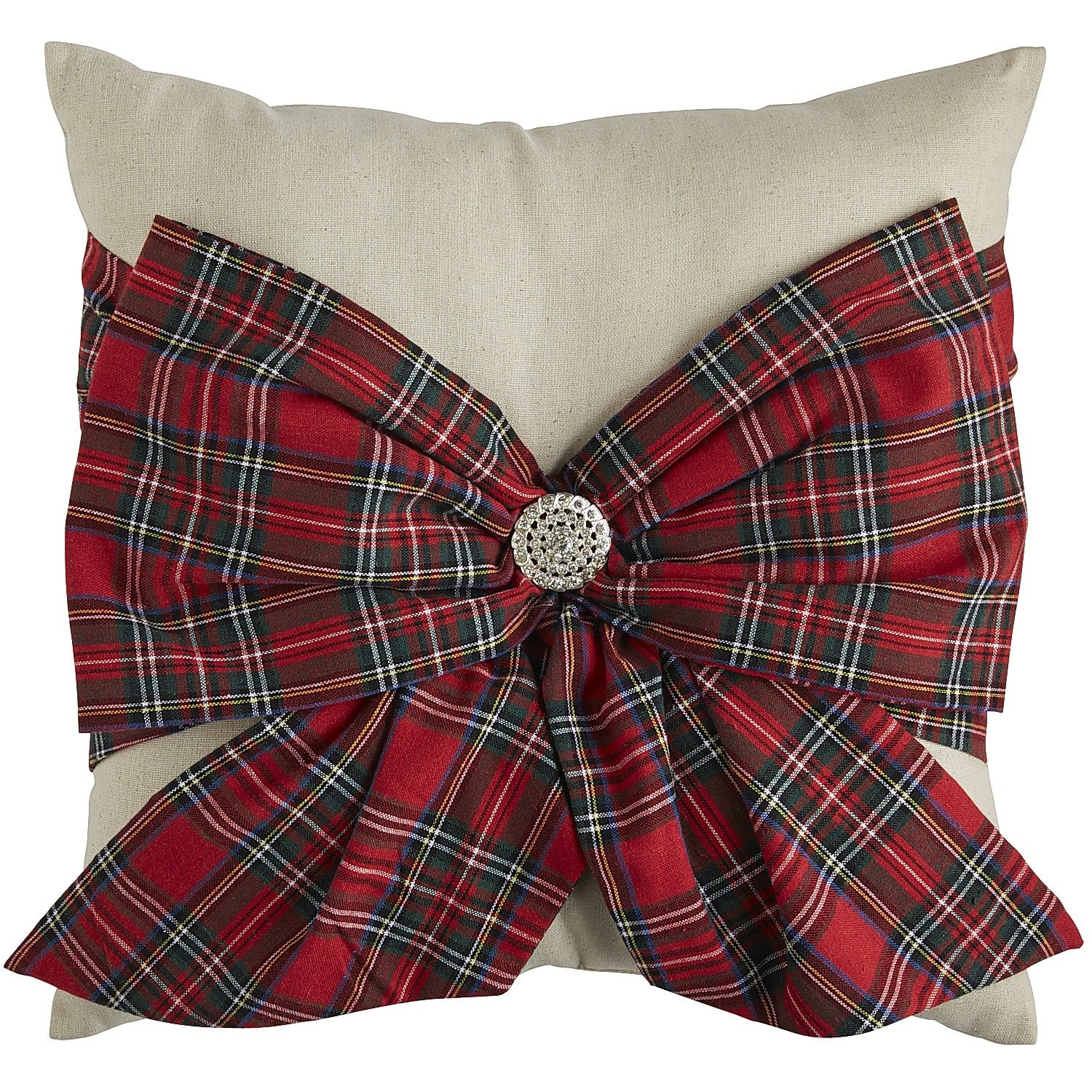 Plaid Bow Pillow