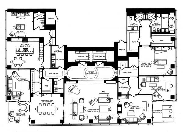 four seasons condominiums floor plans 50 yorkville ave 3 bedrooms