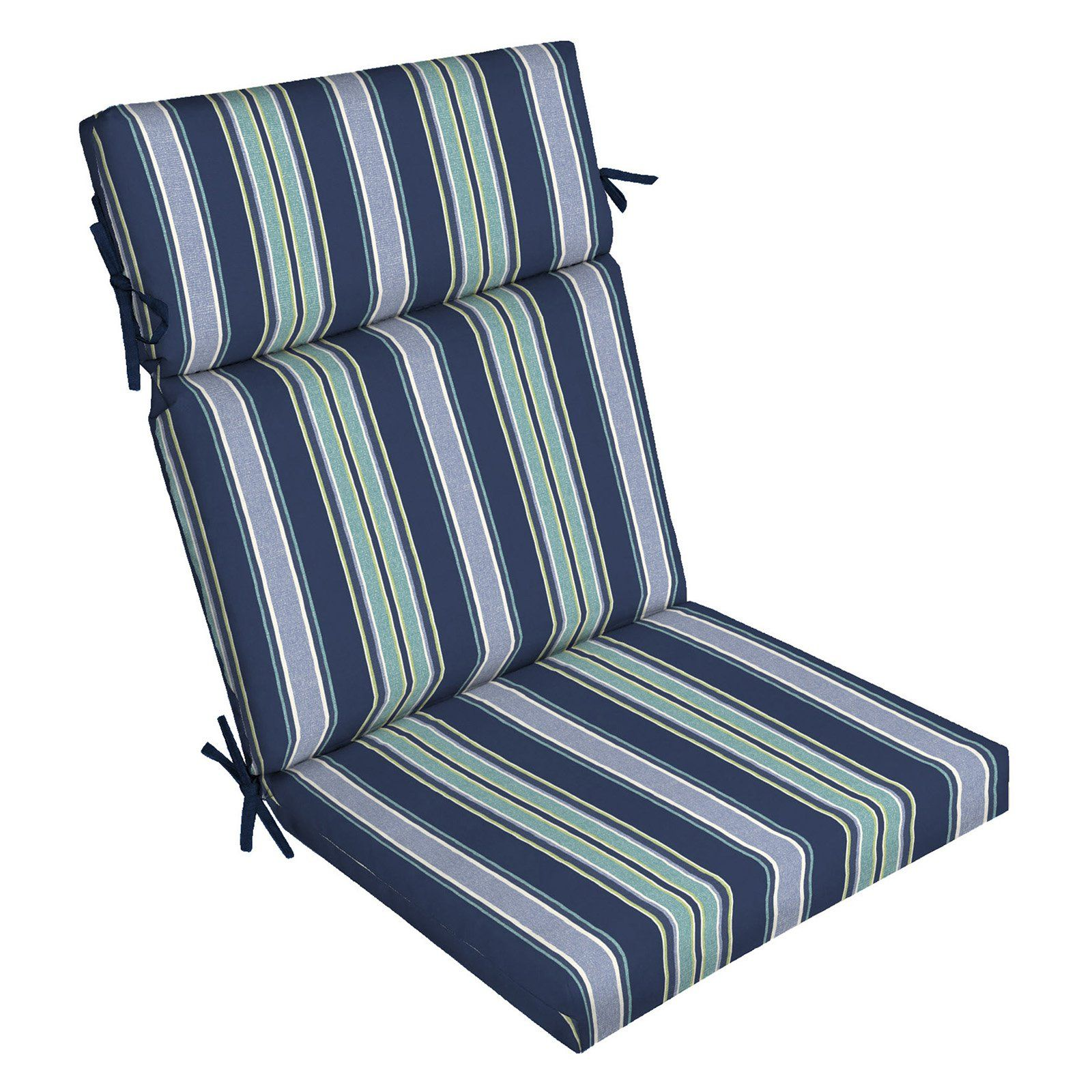 Arden Selections Sapphire Aurora Stripe Outdoor Dining Chair Cushion In 2019 Outdoor Chair Cushions Dining Chair Cushions Chair Cushions