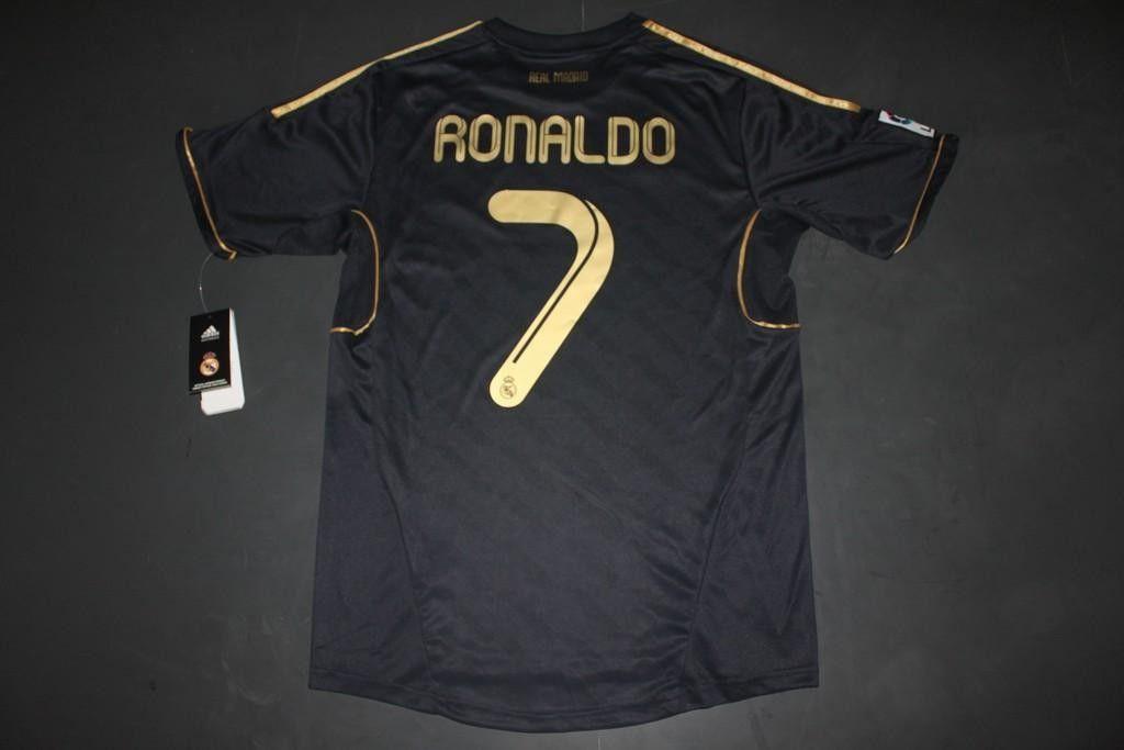 the best attitude 68473 d3799 RONALDO 7 Real Madrid 11/12 away dark blue football jersey ...