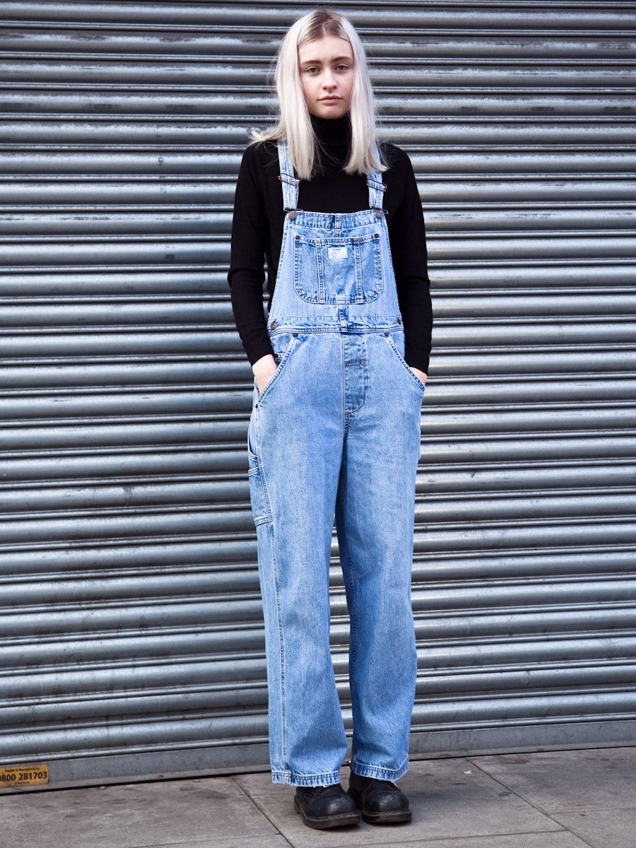1980 S Blue Stonewashed Denim Dungarees Overall By Levi S From Mint Vintage Mint Vintage Dungarees Outfits Denim Dungarees Outfit Clothes