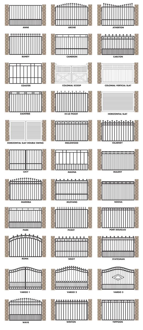 Brisbane gates offers the following gate designs also galeria rh in pinterest