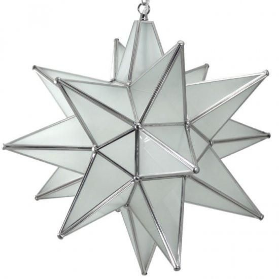 Moravian frosted glass star light frosted glass glass panels and complete your room with the moravian frosted glass star light this is a handcrafted pendant mozeypictures Choice Image