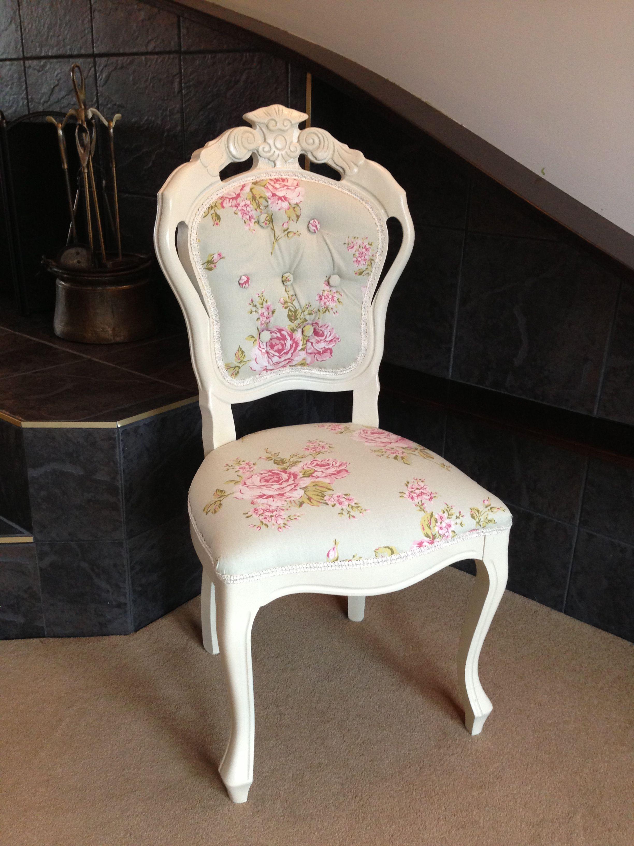 Vintage Shabby Chic Chair Sillas Pintadas Sillas Restauradas