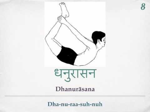 Sivananda Yoga- 12 Basic Asanas Sanskrit Pronunciation