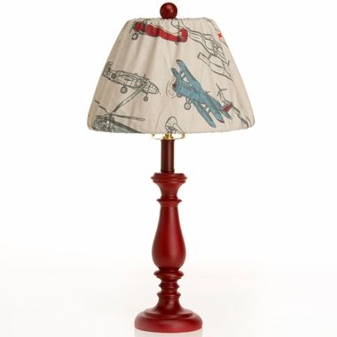 pretty much the cutest airplane themed nursery or kids room lamp around.