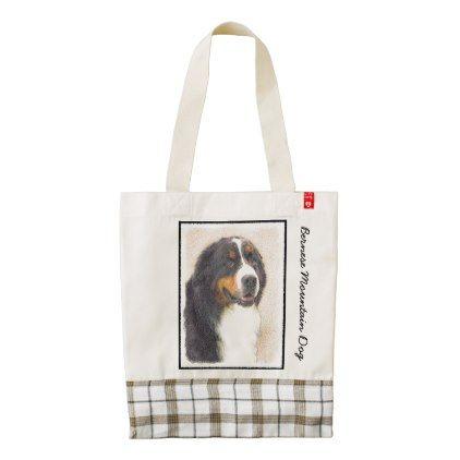 #Bernese Mountain Dog Zazzle HEART Tote Bag - #bernese #mountain #dog #puppy #dog #dogs #pet #pets #cute #bernesemountaindog