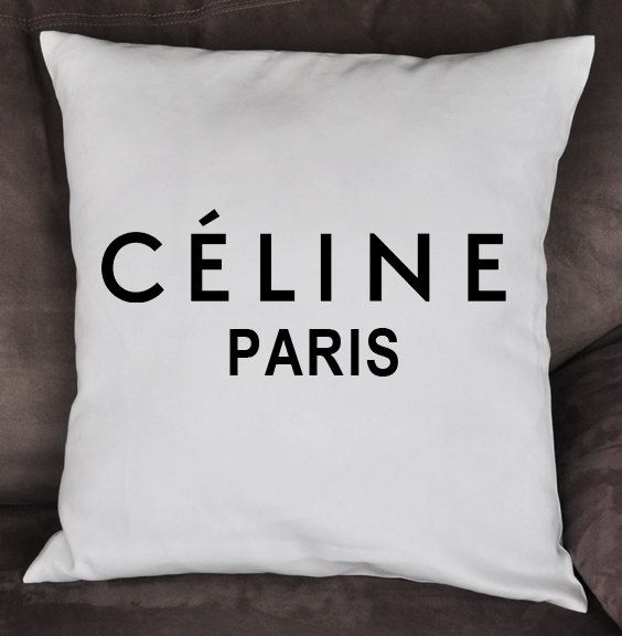 Black And White CELINE Paris Inspired 18x18 Throw Pillow   By  BellaCoutureClothing