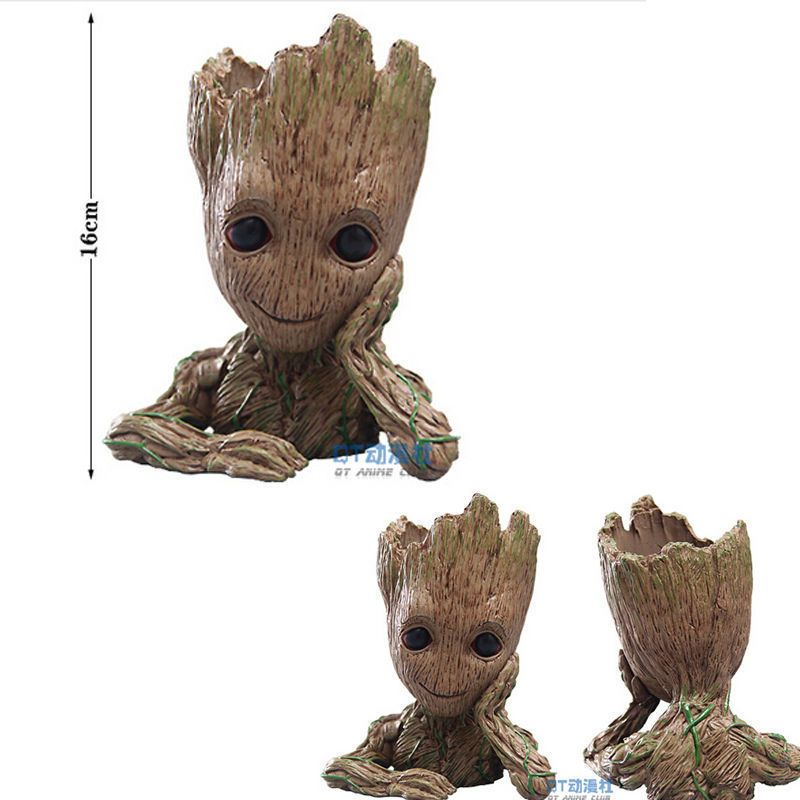 2 Baby Groot Figure Flowerpot Style Toy Gift 16cm Guardians of The Galaxy Vol