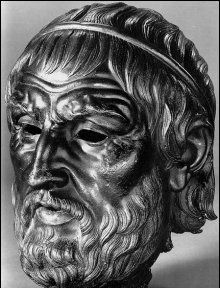 bronze bust of sophocles