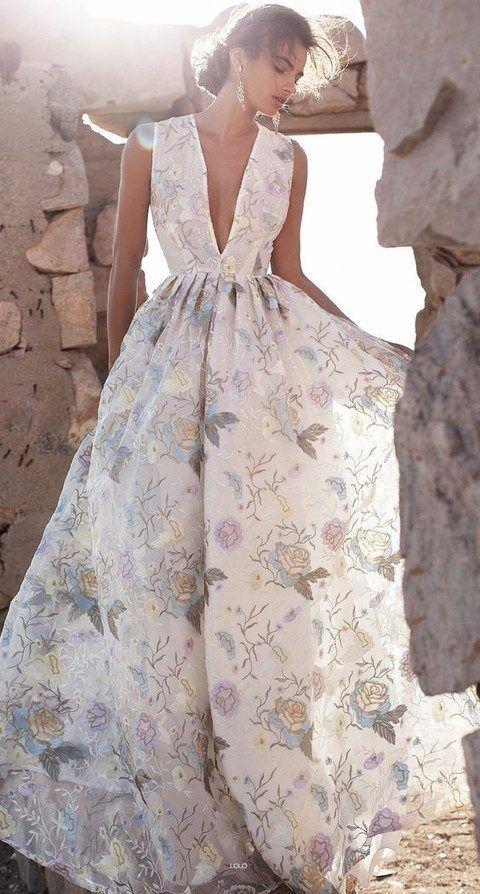 26 Gorgeous Floral Wedding Dresses That Inspire | Bridal | Pinterest ...