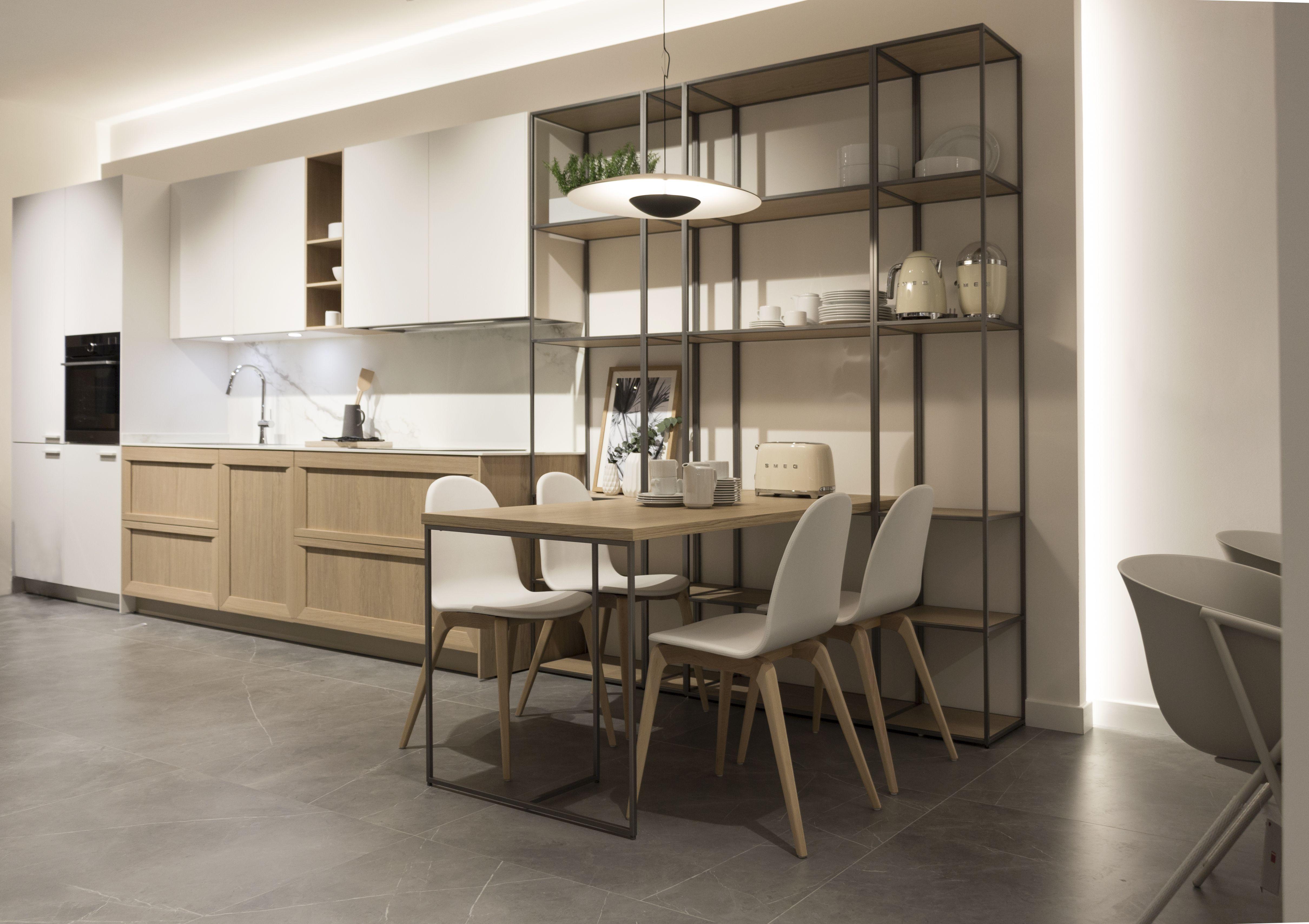 Nuevo showroom en Oviedo. Cocina SoHo. Mesa integrada en la ...
