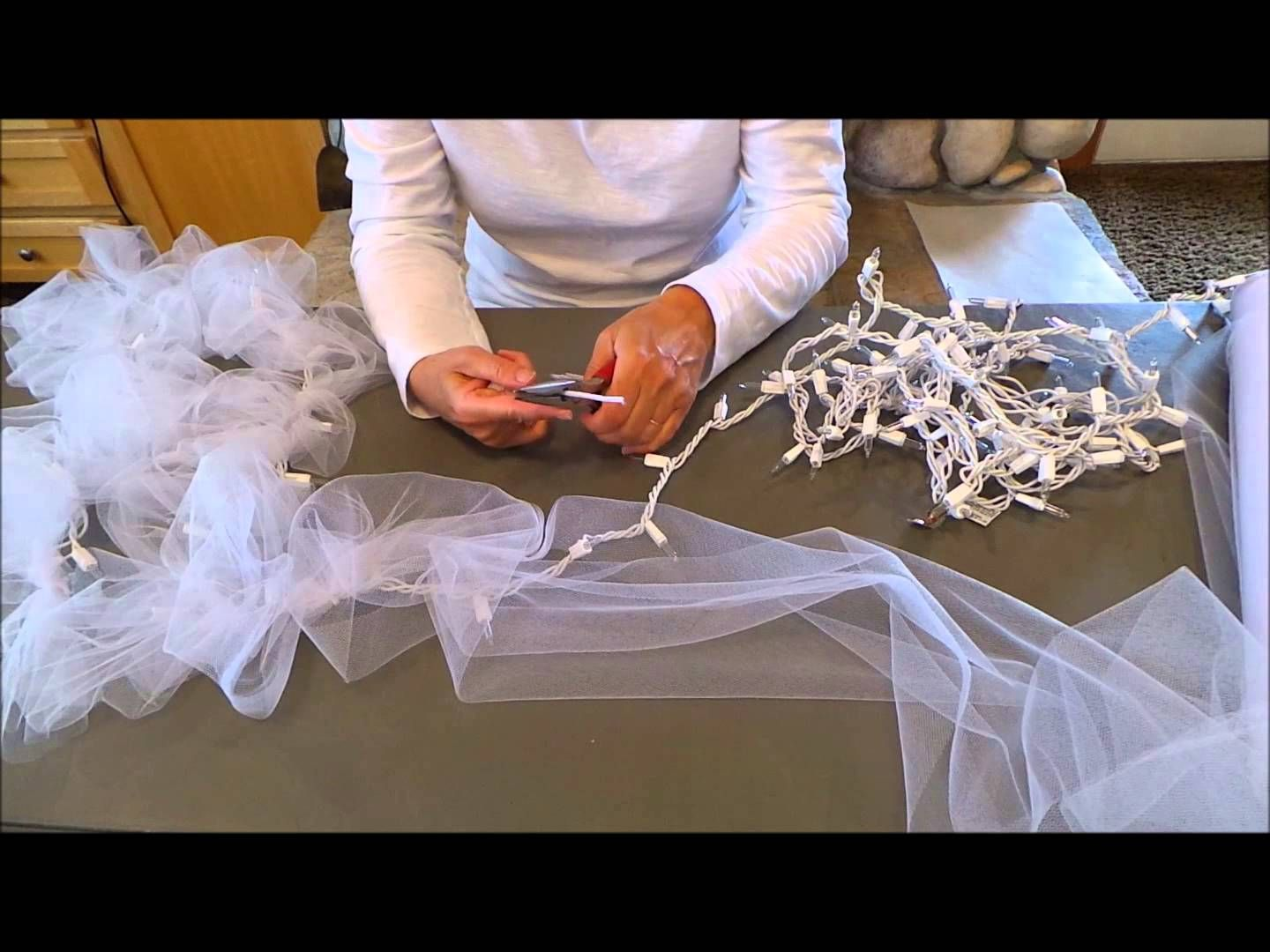 Diy light tulle garland factorydirectcraft how to