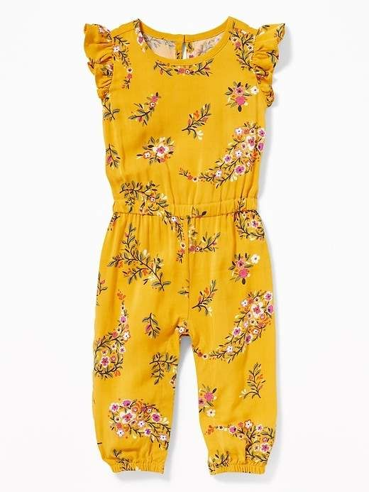 3890a7e60946 Old Navy Ruffle-Trim Floral Romper for Baby