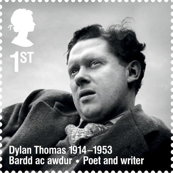 Geh Nicht Gelassen In Die Gute Nacht Dylan Thomas Royal Mail Stamps Book Stamp