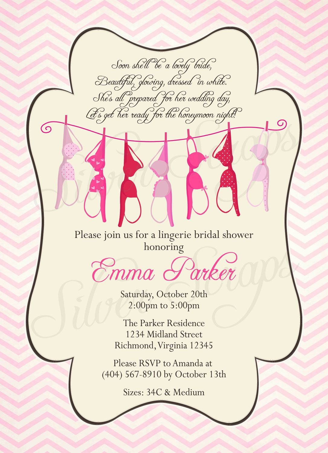 Lingerie Party Invites wedding card pictures – Lingerie Party Invite