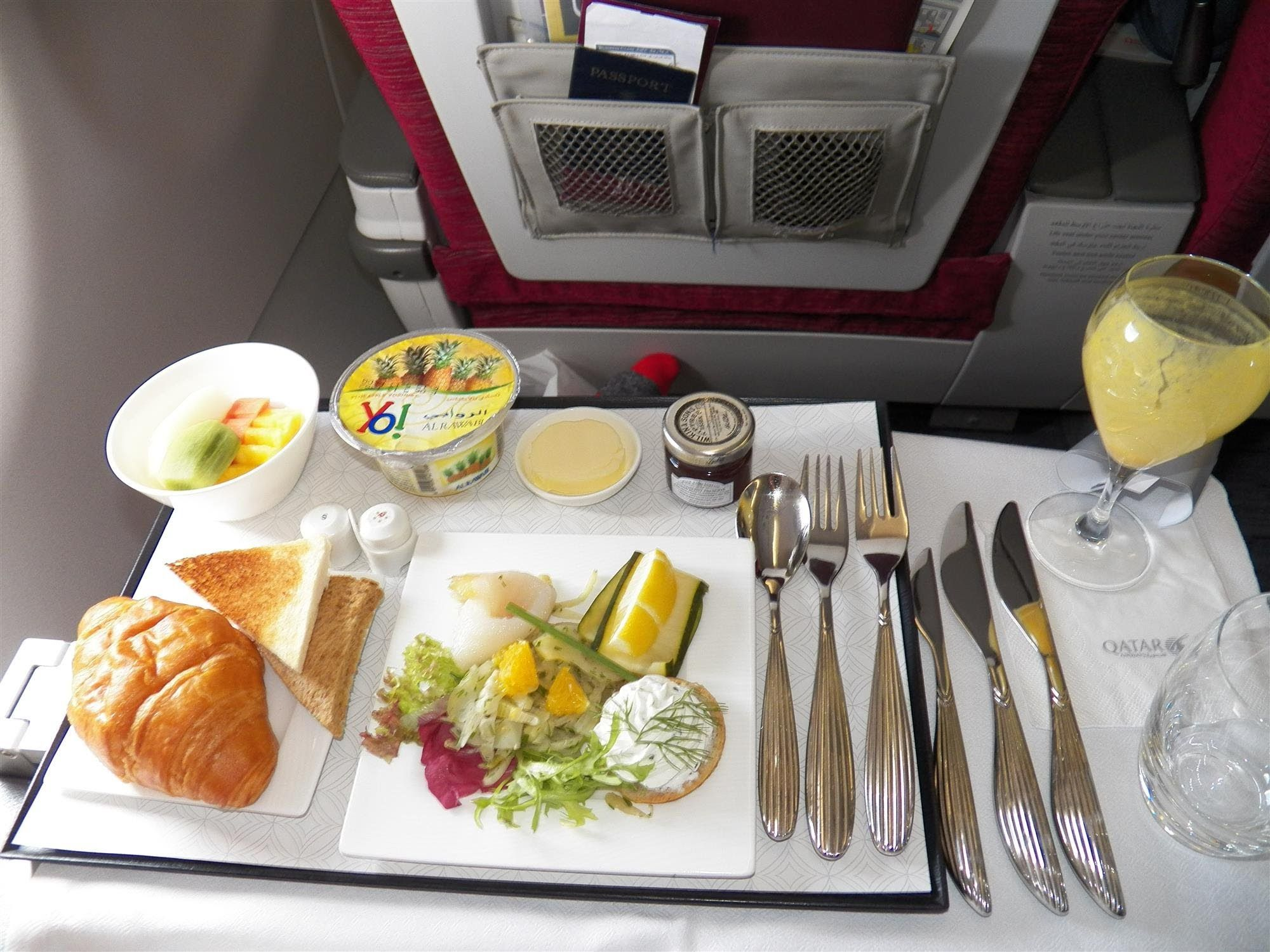 Hd Breakfast Qatar Airways Food Service Business Class A320 Doha