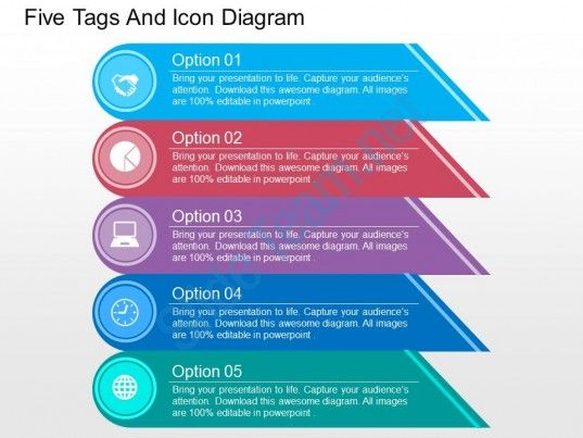 Five Tags And Icon Diagram Flat Powerpoint Design Templates - microsoft word resume template017