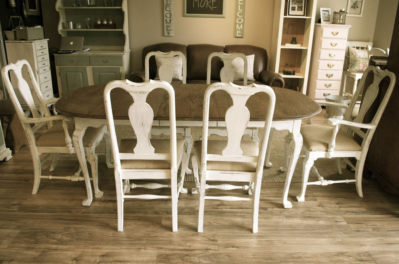 Queen Anne Off White Dining Set New House Dining Room