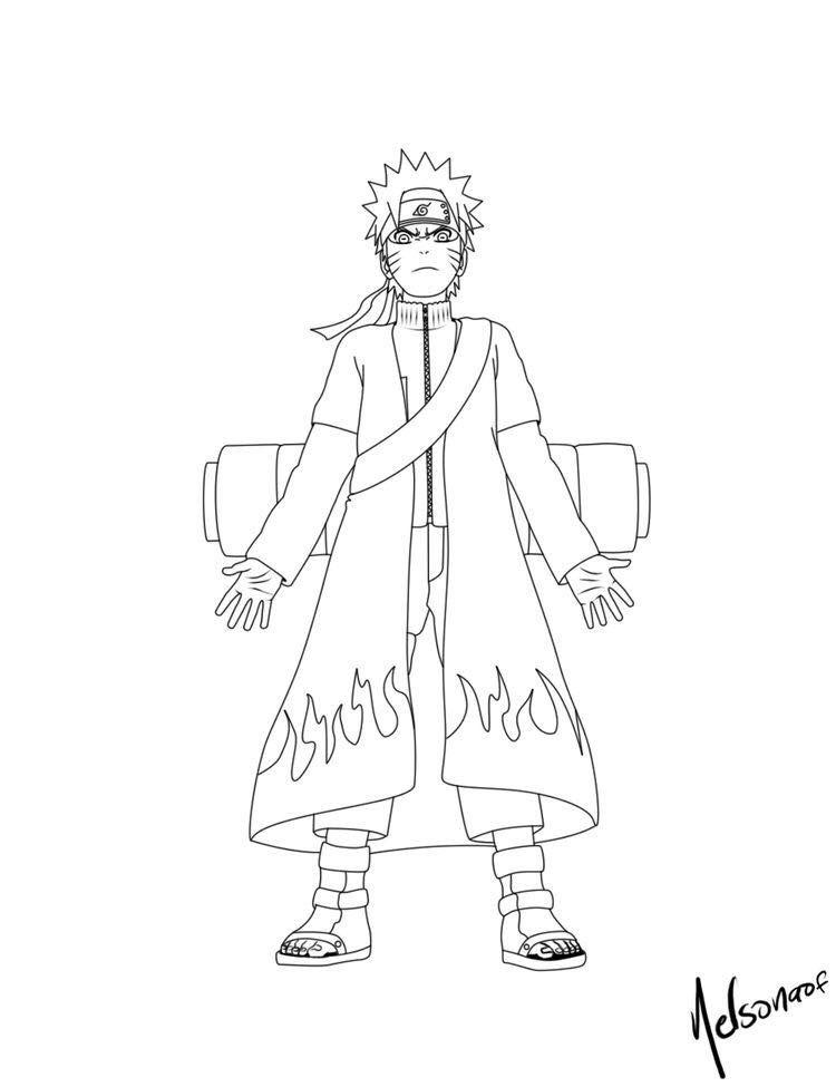 imagem de desenhos para colorir naruto por tsuki em