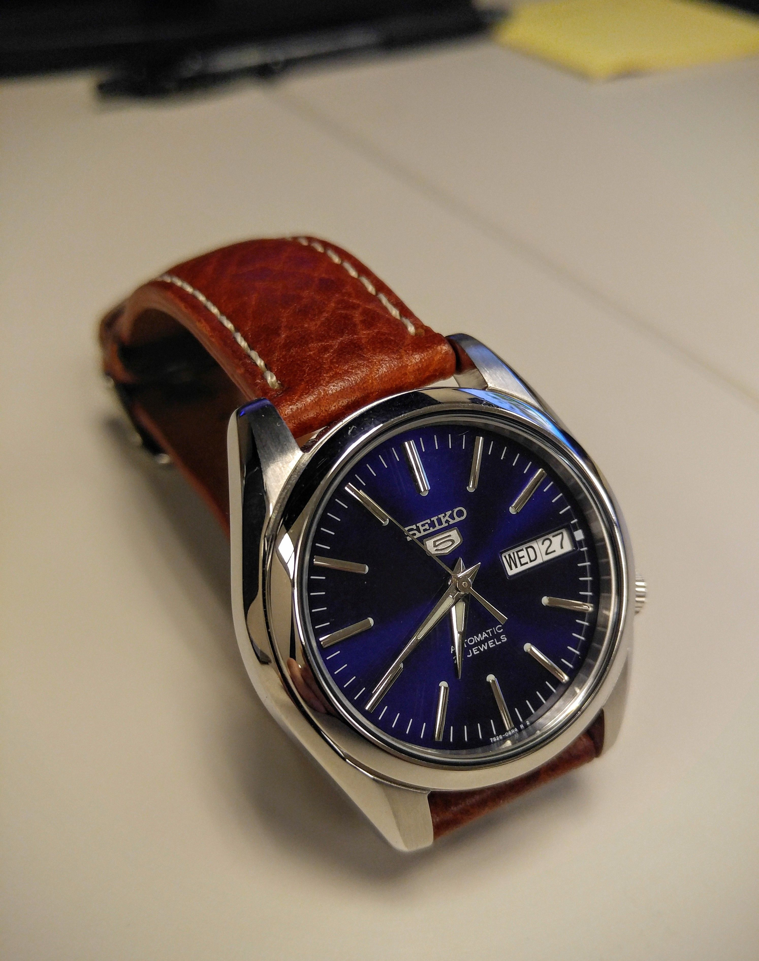 Seiko 5 SNKL43 with leather strap  fbf603f769