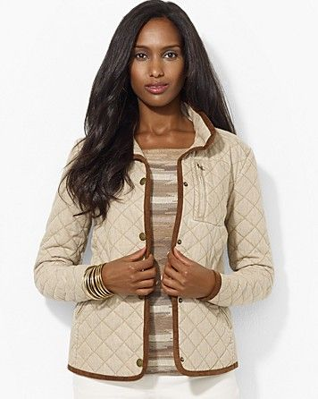 f9d79ae360e Lauren Ralph Lauren Quilted Jacket with Plaid Lining | Outerwear ...