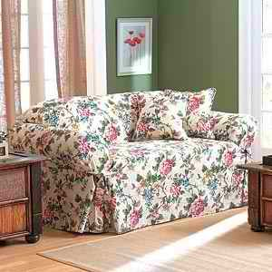 Floral Sofa floral patterns, like the one on this sofa slipcover, are back in