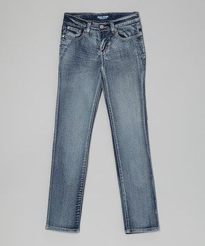 This Acid Wash Wrinkle Skinny Jeans - Toddler & Girls by Miss Jeans Premium is perfect! #zulilyfinds