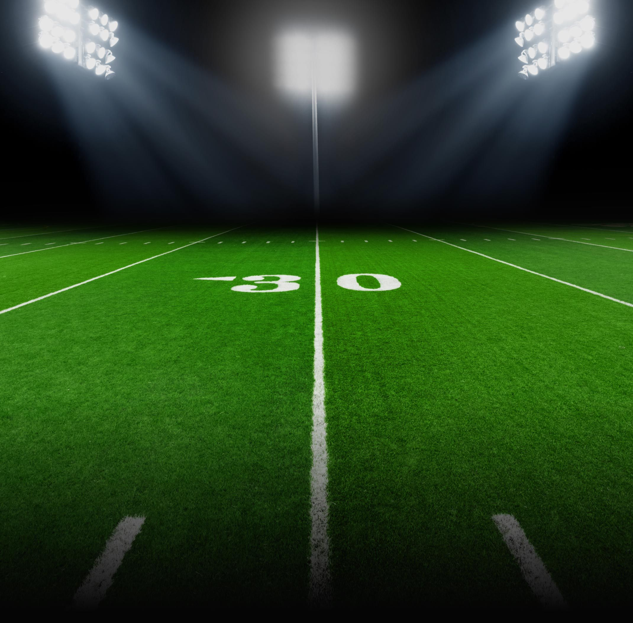 background football field with