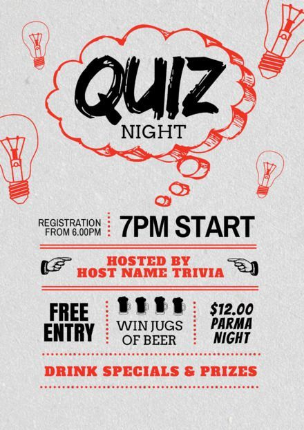 Quiz Night Easil in 2020 Plakat