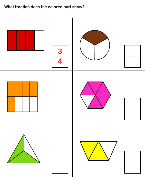 Free Printable Fraction Worksheets – Fractions Worksheets for Kindergarten